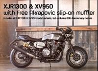 XJR1300 & XV950 - Free Akrapovic Slip-On Mufflers