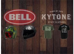 We Are Now Suppliers of Bell Helmets & Kytone Clothing